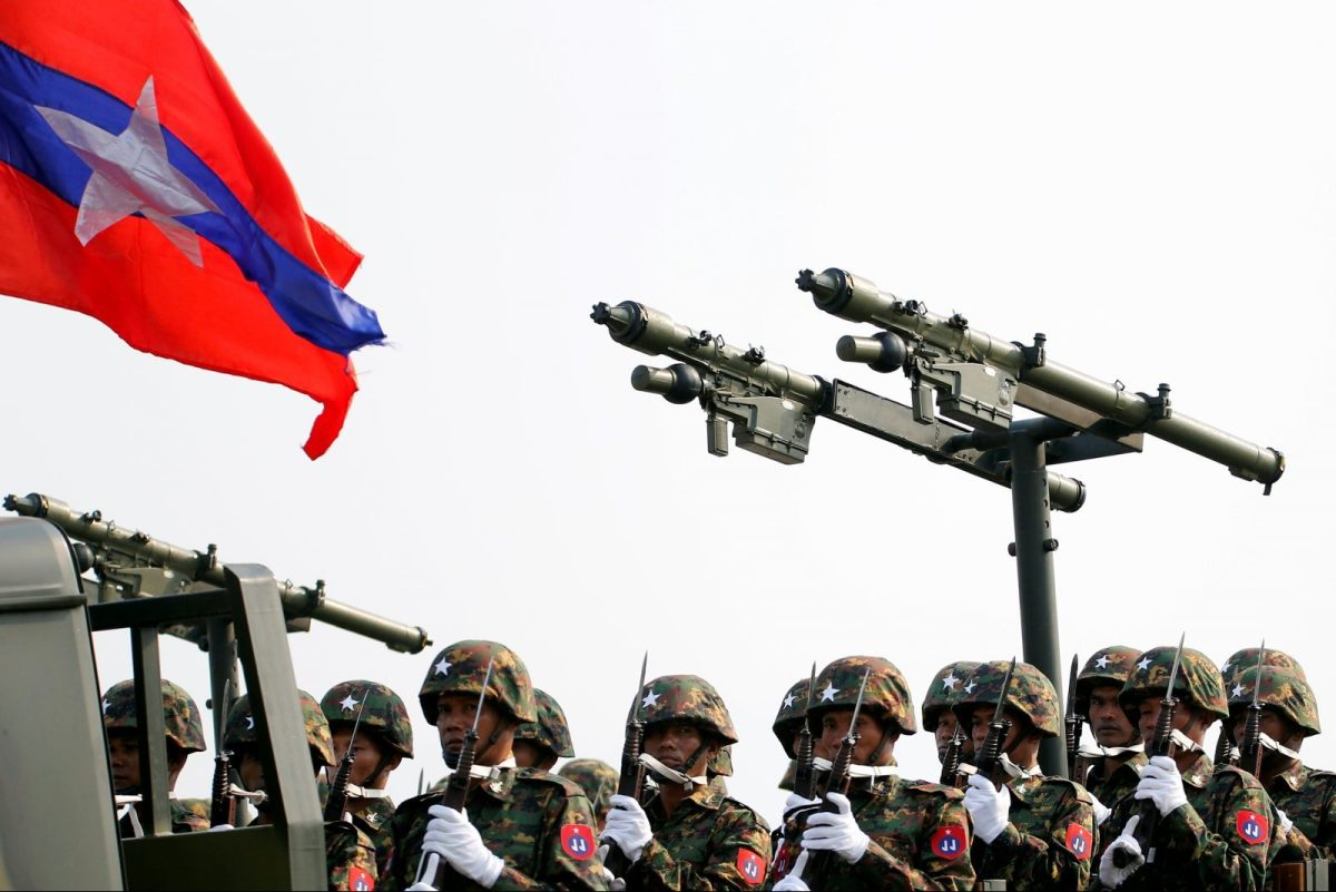 Myanmar's military parade to mark the 72nd Armed Forces Day in the capital Naypyitaw, Myanmar March 27, 2017. Photo: Reuters/Soe Zeya Tun