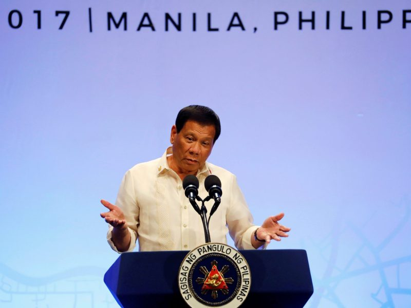 Philippine President Rodrigo Duterte. Photo: Reuters / Erik De Castro