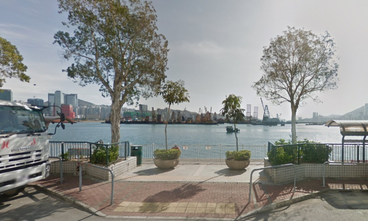 The section of the coast near King Wan Street Playground, To Kwa Wan, Kowloon. Photo: Google Maps
