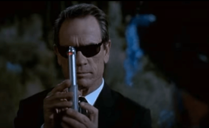 Look into the pen, Mr President. Can Trump and learn to trust his intelligence community? Photo: Screenshot from Men In Black trailer.