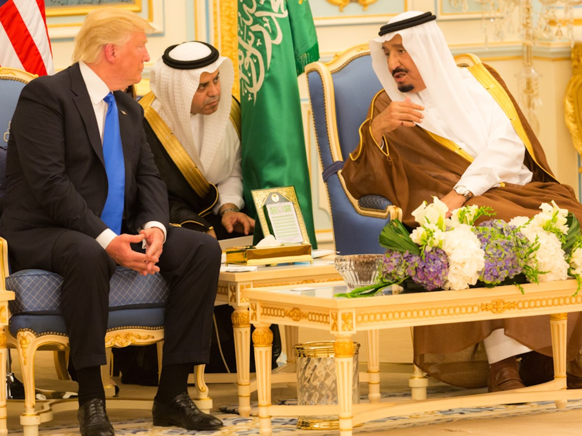 President Trump meets the Saudis in June 2017. Photo: Wikipedia Commons