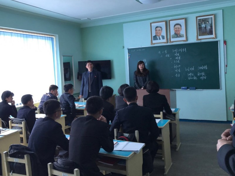 North Korean students say they are confident in their country. Photo: Yeung Lai-yan