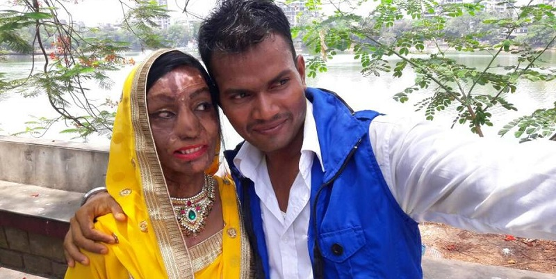 Lalita Ben Bansi, 26, and Ravi Shankar, 27, got married in Thane on May 24. Photo: Hindustan Times