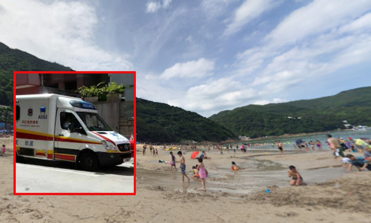 A man drowned in Clear Water Bay Second Beach in Sai Kung on Wednesday. Photo: Wikimedia Commons, Google Map