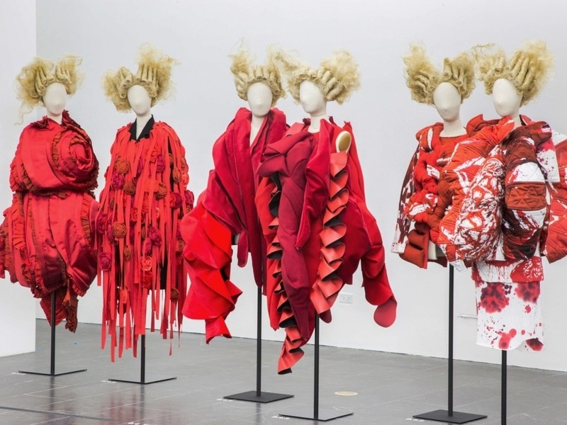 Installation view of Clothes/Not Clothes: War/Peace. Photo: Artsy Magazine via Metropolitan Museum of Art