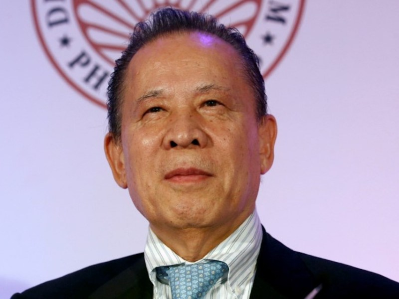 Kazuo Okada during a news conference in Makati city, Metro Manila. Photo:  Reuters/Erik De Castro