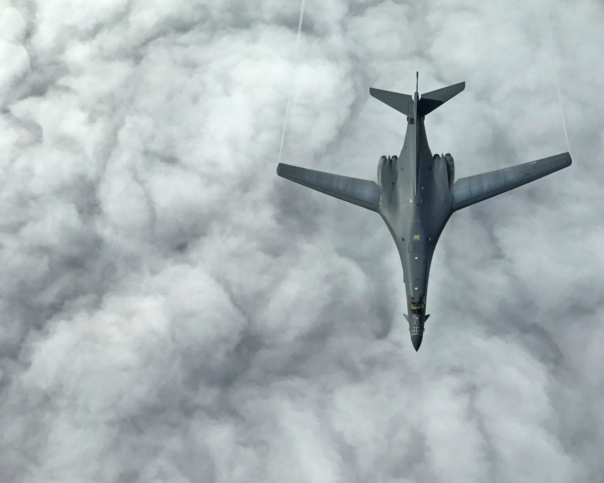 One of two U.S. Air Force B-1B Lancer bomber. Photo: US Air Force/Airman 1st Class Gerald R. Willis/Handout via Reuters