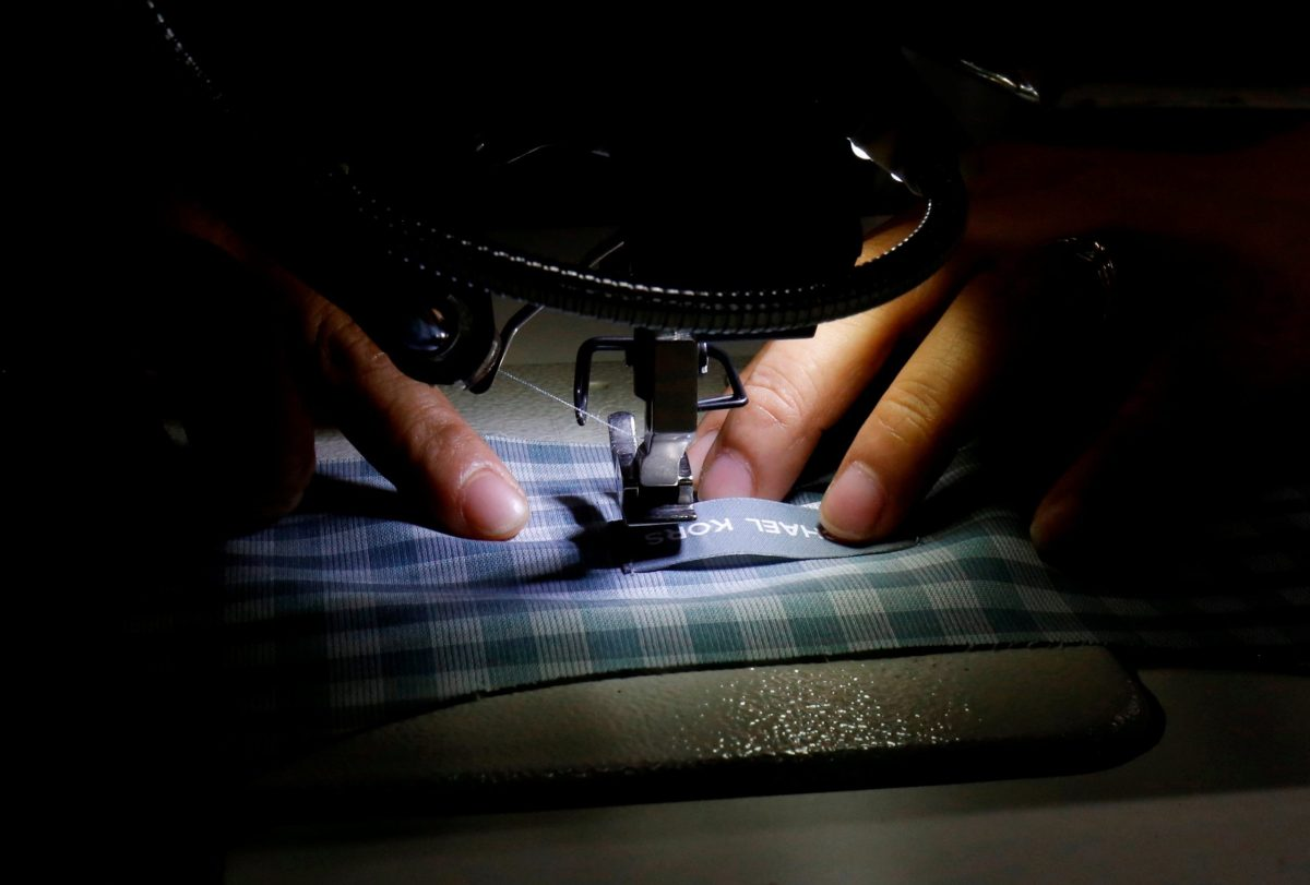 A laborer works at a TAL garment factory in Vinh Phuc province. Photo:  Reuters/Kham