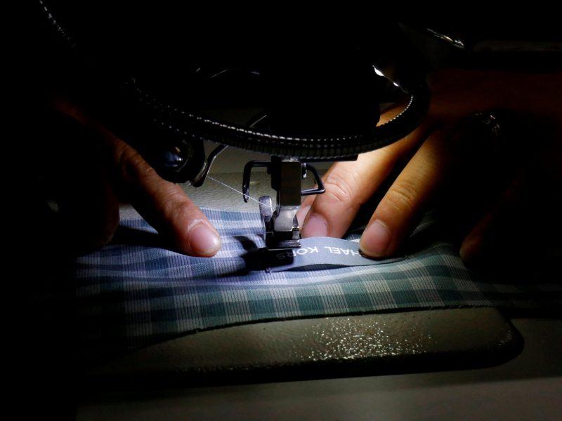 A laborer works at a TAL garment factory in Vinh Phuc province. Photo:  Reuters/Kham