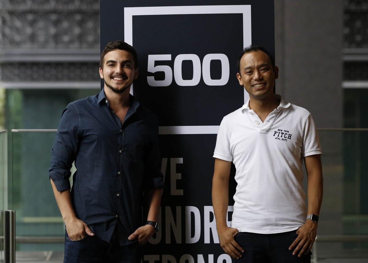 James Riney, head of 500 Startups Japan poses with managing partner Yohei Sawayama. Photo: 500 Startups Japan