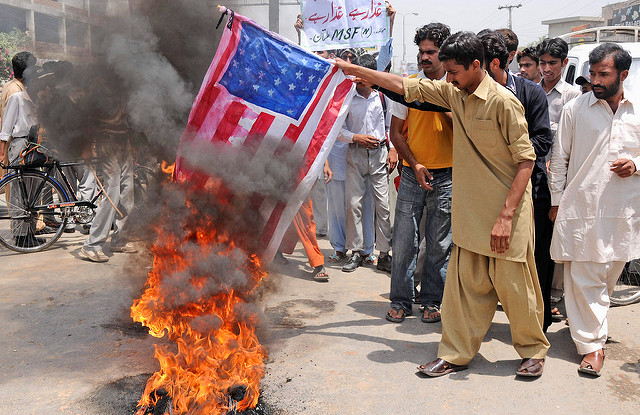Pakistanis protest US drone strikes. Photo: Flickr Commons