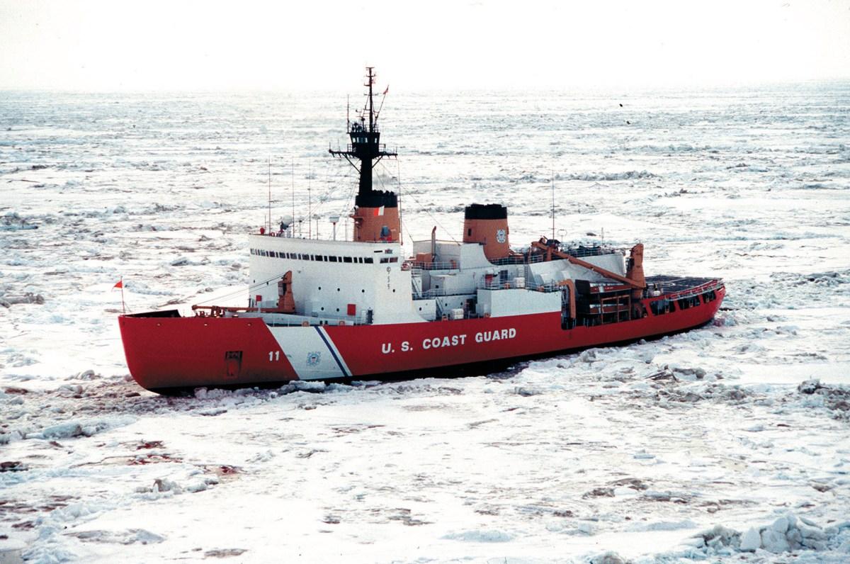 Polar Star, an aging US Coast Guard icebreaker. Photo courtesy of US Coast Guard