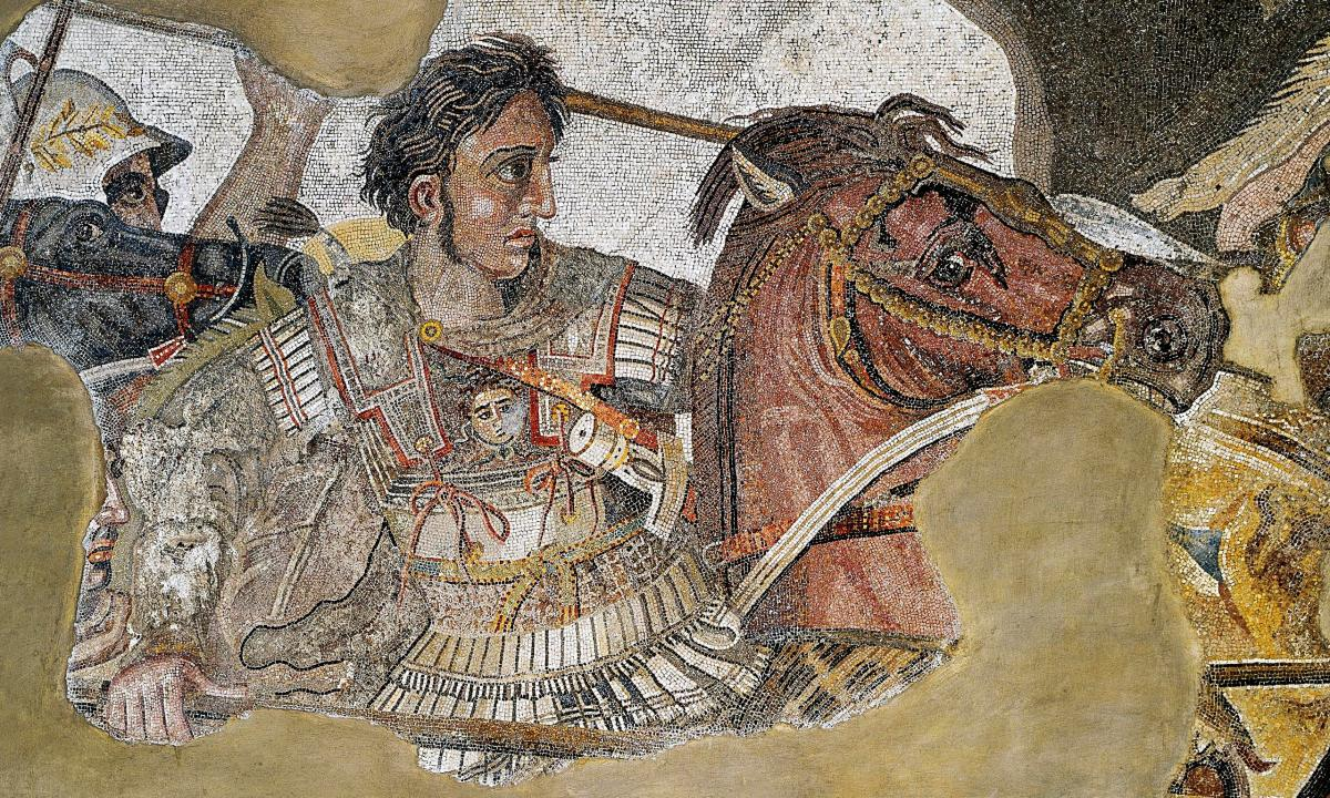 A detail from the Alexander Mosaic showing Alexander the Great, whose conquests led to the Hellenistic Age. Photo: Public Domain