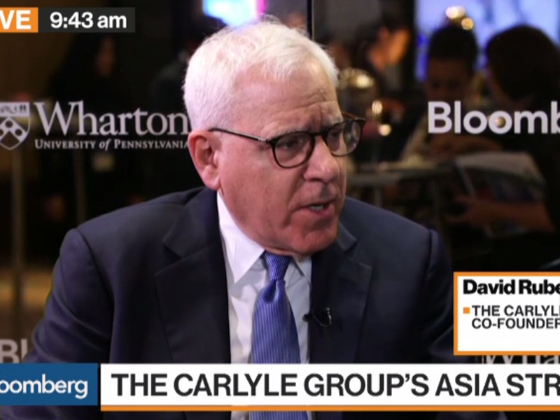 Carlyle Group CEO David Rubenstein. Source: Screen grab of footage from Bloomberg
