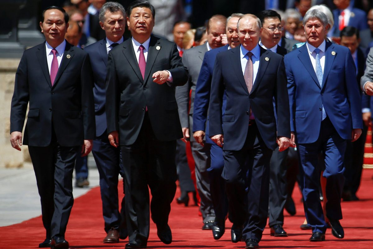 Chinese President Xi Jinping and other leaders arrive for a photo during the Belt and Road Forum held in Beijing last May. Photo: Reuters/Damir Sagolj