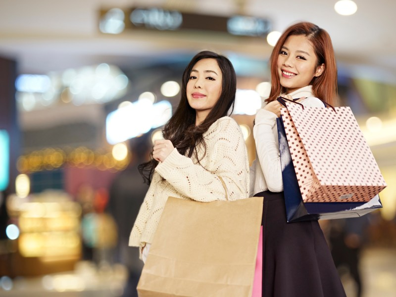 Young women shoppers are helping to drive the luxury sector. Photo: iStock
