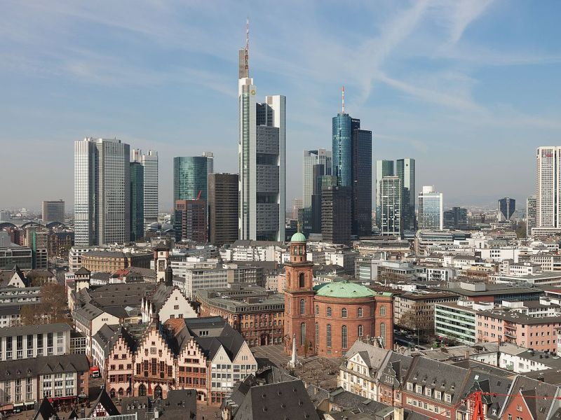 View of downtown Frankfurt