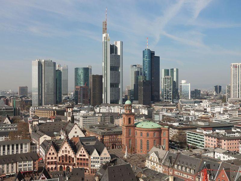 View of downtown Frankfurt