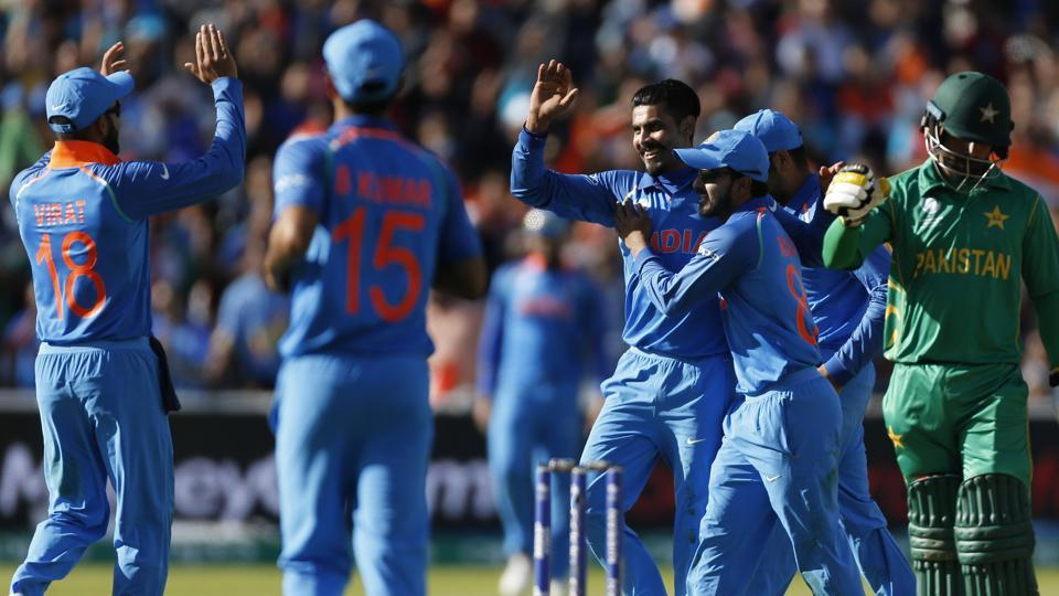 India defeated Pakistan by 124 runs in their rain-hit match for ICC Champions Trophy at Edgbaston on June 4. -- Photo/Reuters