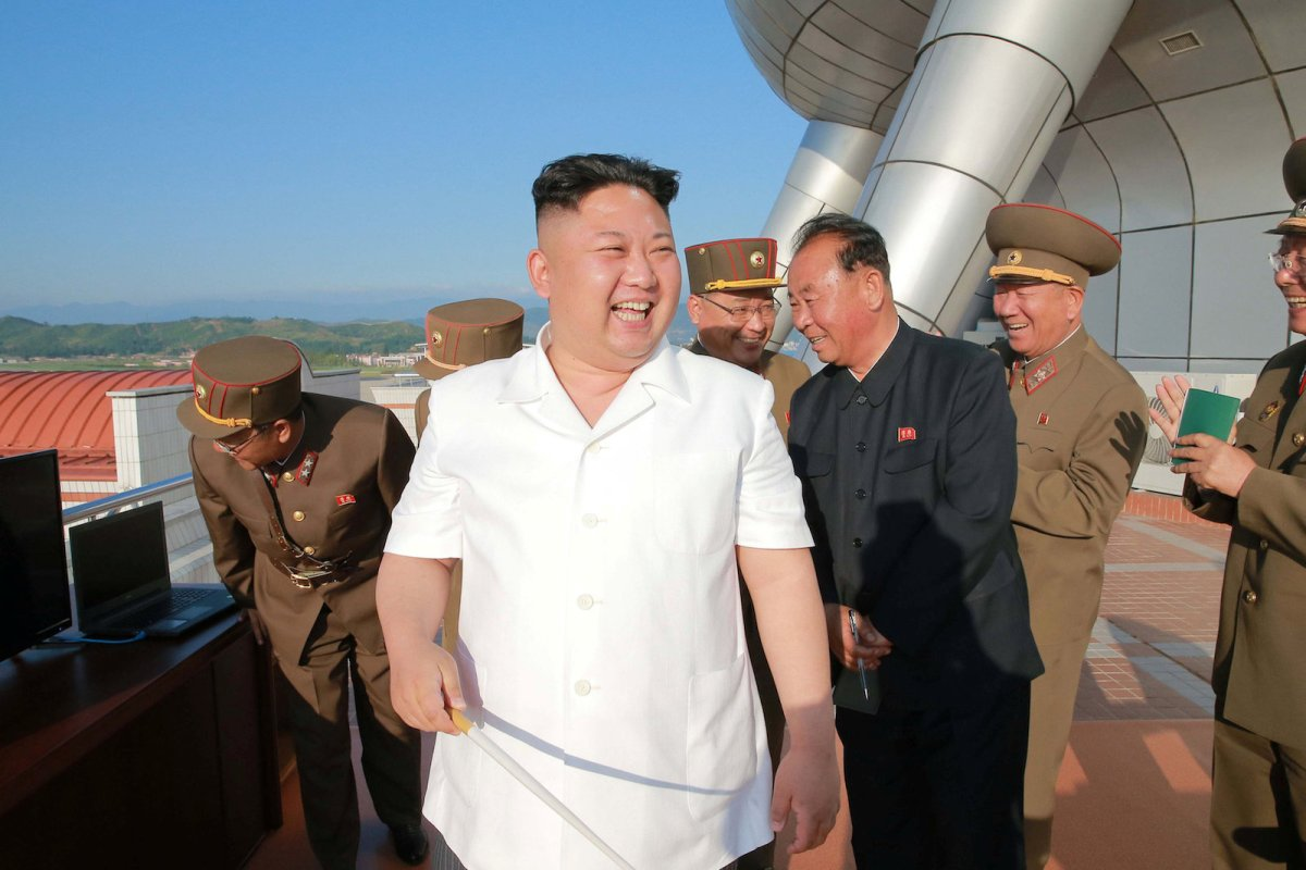 "North Korean leader Kim Jong-un is all smiles after the test-firing of a new missile in photo released by the Korean Central News Agency on May 30, 2017. Friday's launch came a day after North Korea celebrated what it calls ""Victory Day"" — the anniversary of the end of the 1950-53 Korean War — and Pyongyang regularly times its missile tests to coincide with symbolic dates. Photo: KCNA / via Reuters"