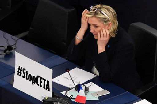 Le Pen's election to the National Assembly Sunday was a pyric victory as her party was devestated. Photo: AFP / Frederick Florin