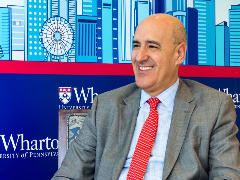 Asia Times meets Professor Mauro Guillén, director of The Lauder Institute at Wharton. Photo: Asia Times/Lin Wanxia