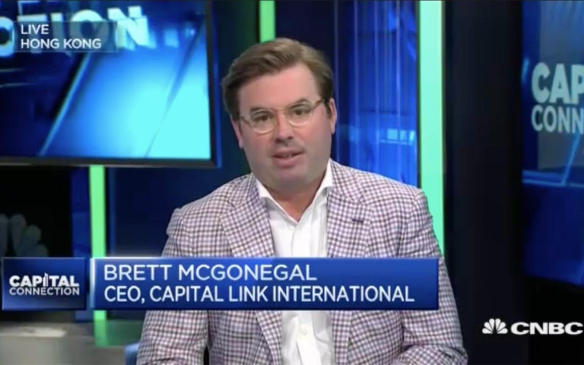 Capital Link International CEO Brett McGonegal: Trump has to deliver. Photo: CNBC screen grab