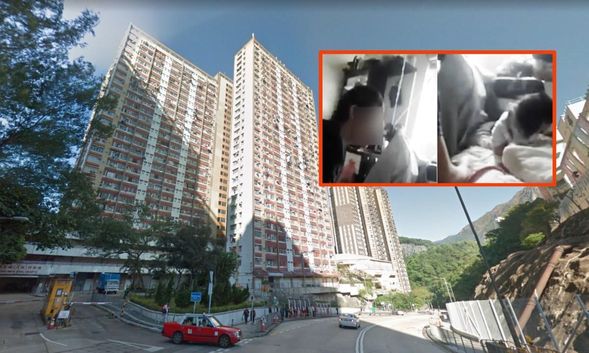 Lok Wah North Estate, Ngau Tau Kok. Photos: Google Maps, Hong Kong Police