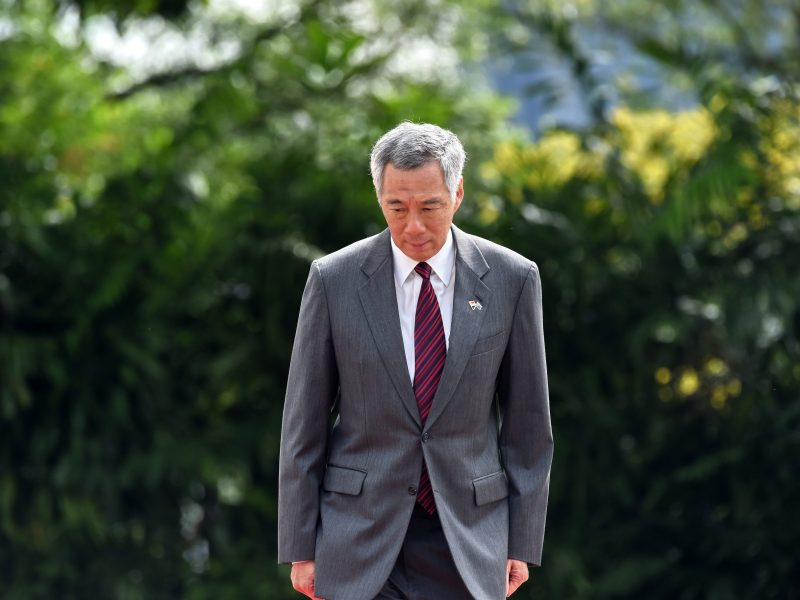 Singapore prime minister Lee Hsien Loong at the presidential palace. A feud between the children of Singapore's late founding leader intensified after two siblings publicly accused their brother Prime Minister Lee Hsien Loong of disobeying their late father's last wishes and abusing his powers. Photo: AFP/Roslan Rahman