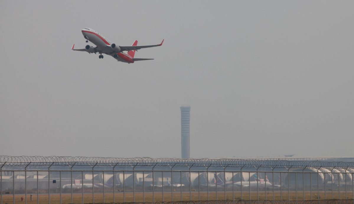An airplane takes off from Bangkok's main Suvarnabhumi airport in Thailand. The military government plans to upgrade its U-Tapao airfield into a thriving commercial hub. Photo: AFP Forum