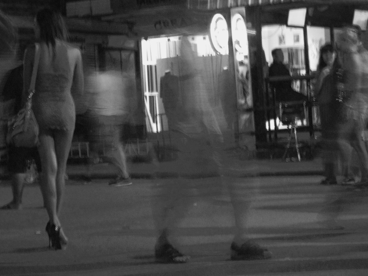 A blurred image photo of a prostitution area on Thailand's Patong Beach on the island of Phuket. Photo: iStock/Getty Images