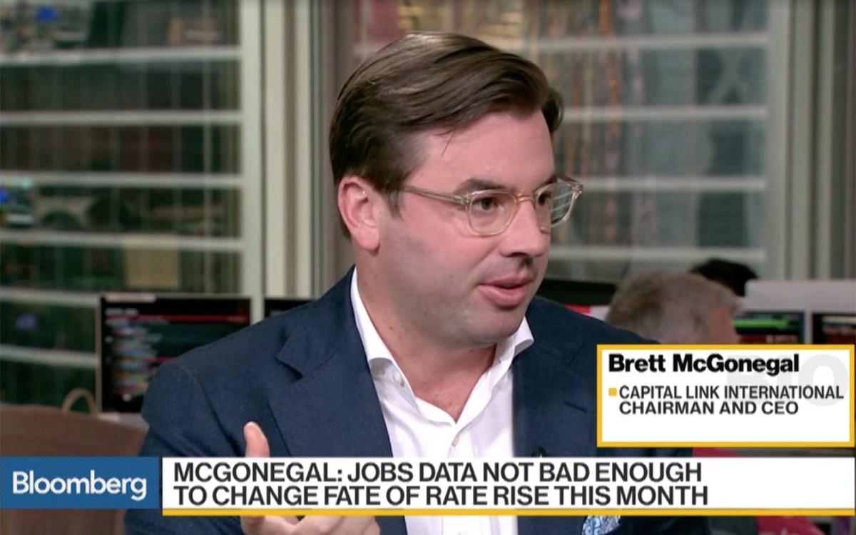 Capital Link International CEO Brett McGonegal. Bloomberg screen grab