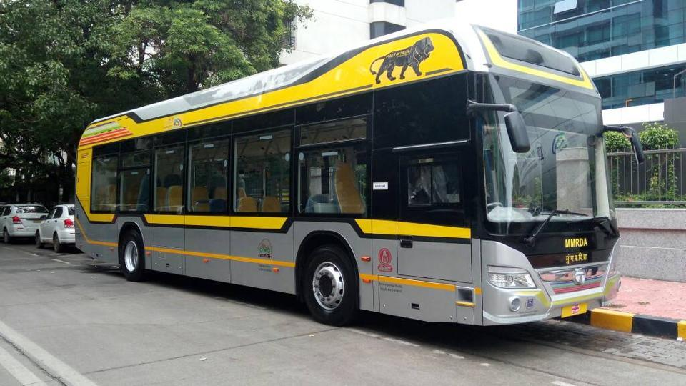 Mumbai's new hybrid buses will run along two routes: from Bandra Kurla Complex to Bandra and from Kurla to Sion railway stations. Photo: Hindustan Times