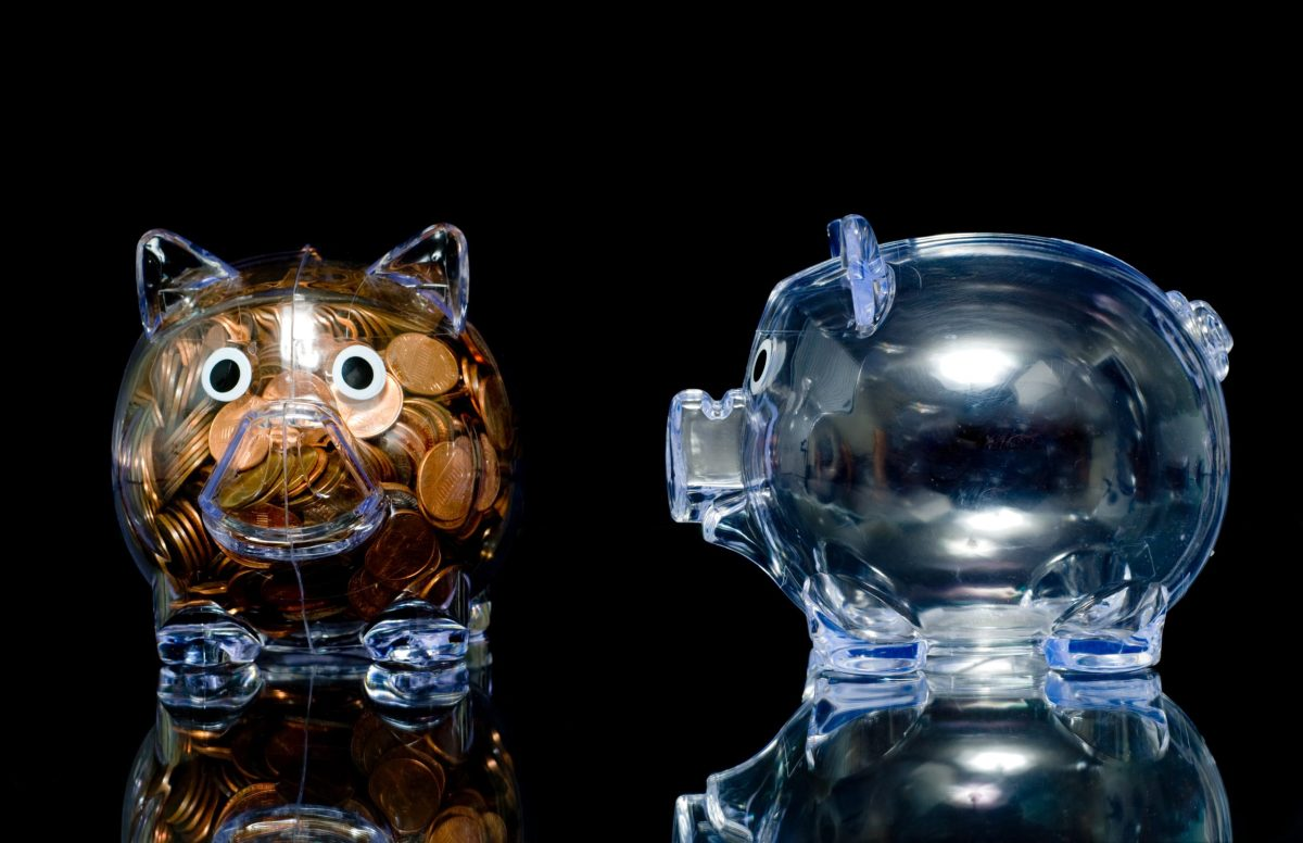 This little piggy has tons of cash, and this little piggy got none. Photo: iStock
