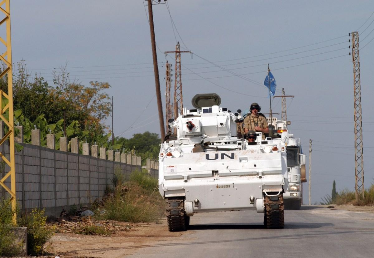 A UN peacekeeping vehicle on patrol in Lebanon. Photo: iStock