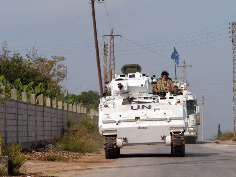 A UN peacekeeping vehicle on patrol in Lebanon. Photo: iStock