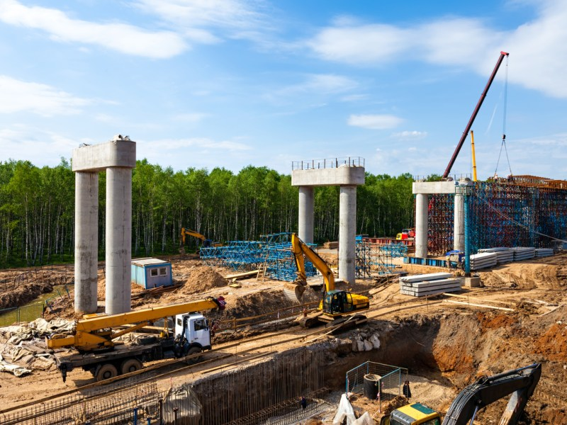 Transport interchange construction in Moscow, Russia. Photo: iStock