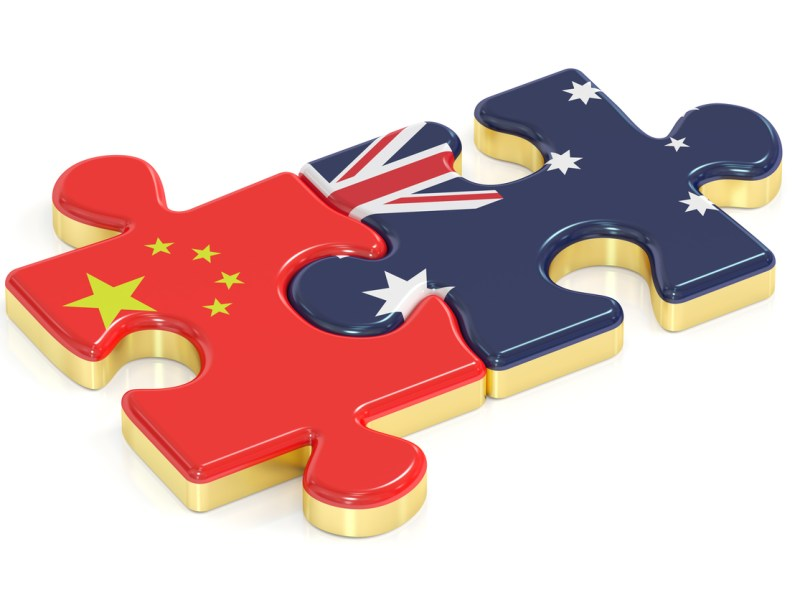 The China and Australia puzzle. Photo: iStock