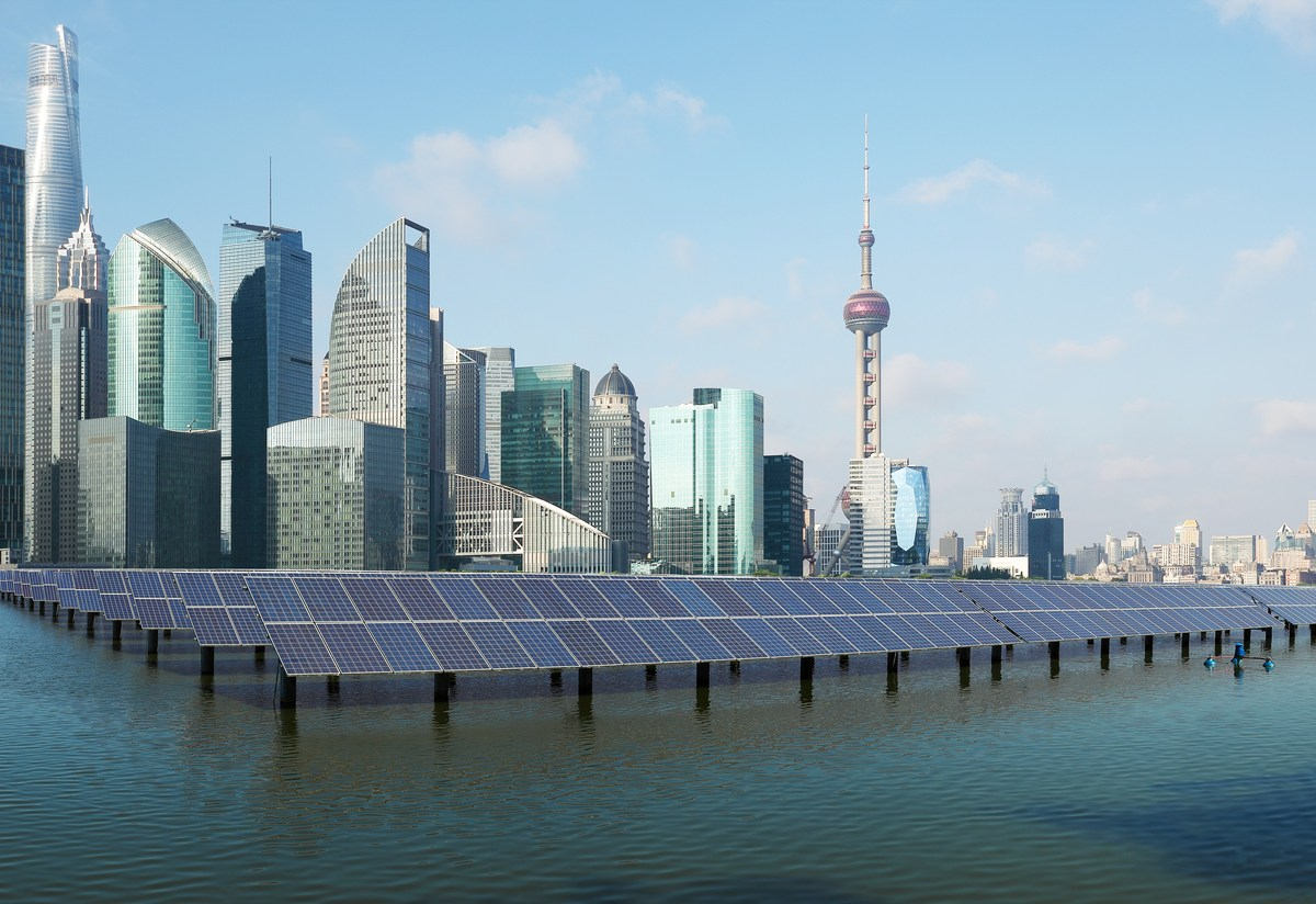 A solar power site in Shanghai. Photo: iStock