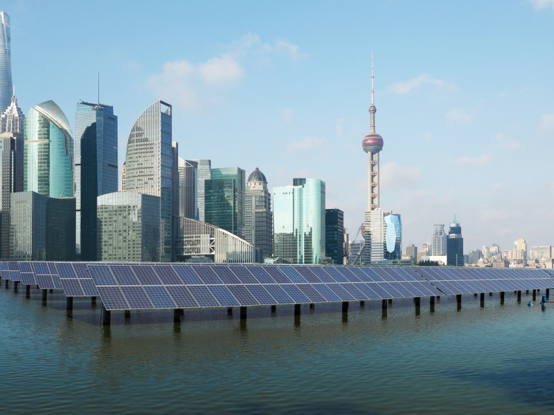 A solar power site in Shanghai. Photo: iStock