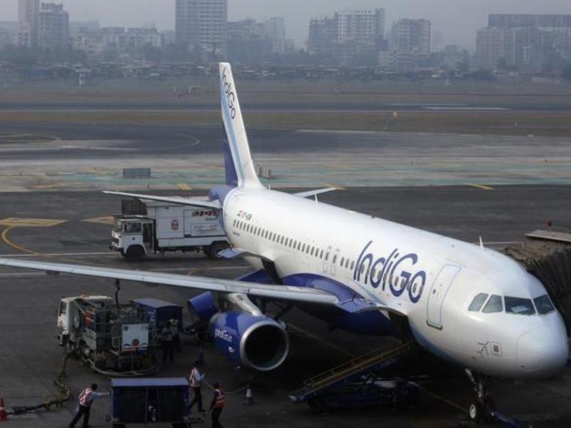 An IndiGo Airbus A320 at Mumbai's Chhatrapathi Shivaji International Airport. Photo: Reuters