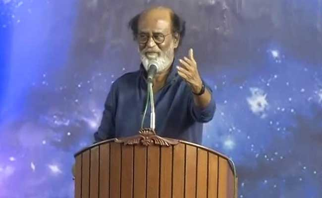 The 66-year-old acting legend Rajinikanth may soon take to the political stage. Photo: NDTV