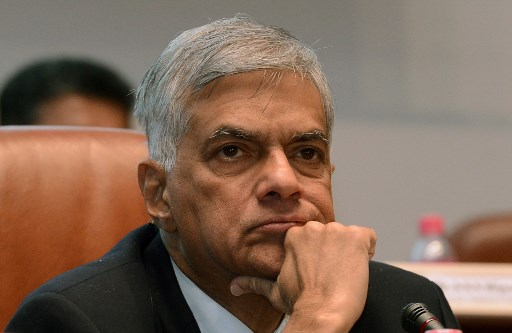 Sri Lankan Prime Minister Ranil Wickremesinghe. Photo: AFP/Lakruwan Wanniarachchi