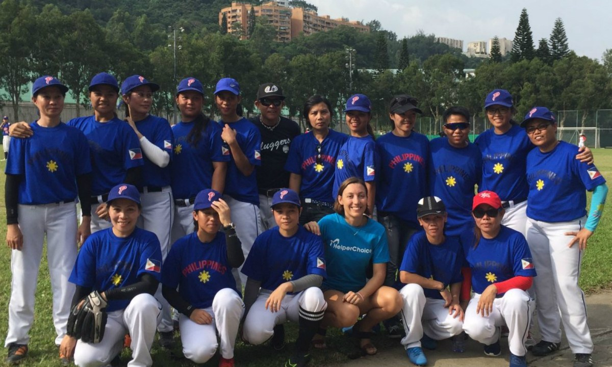 Philippine Sluggers baseball team. Photo: Facebook/HelperChoice