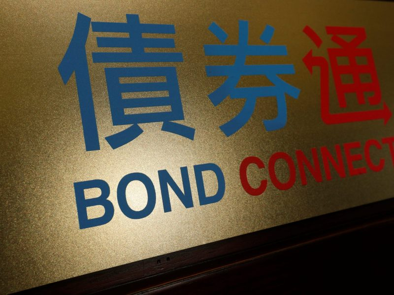 A Bond Connect at Hong Kong Exchanges in Hong Kong, July 3, 2017. Photo: Reuters / Bobby Yip