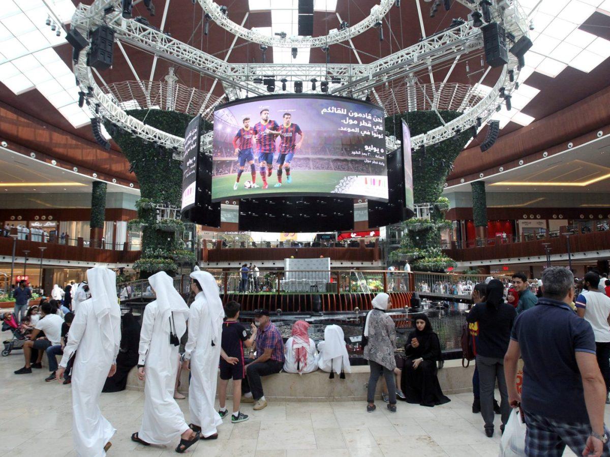 People walk in Mall of Qatar in Doha, on July 5, 2017. Photo: Reuters/ Naseem Zeitoon