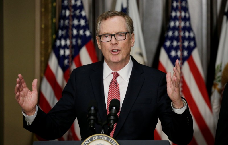 US Trade Representative Robert Lighthizer has said that China represents an 'unprecedented' threat to world trading system. Photo: Reuters/ Kevin Lamarque