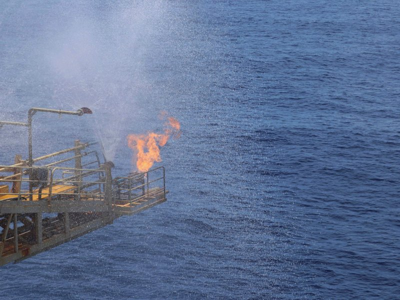 A Chinese natural gas drilling platform in the Shenhu area of the South China Sea, southeast of Zhuhai, Guangdong province, China, July 9, 2017. Picture: Reuters/Stringer