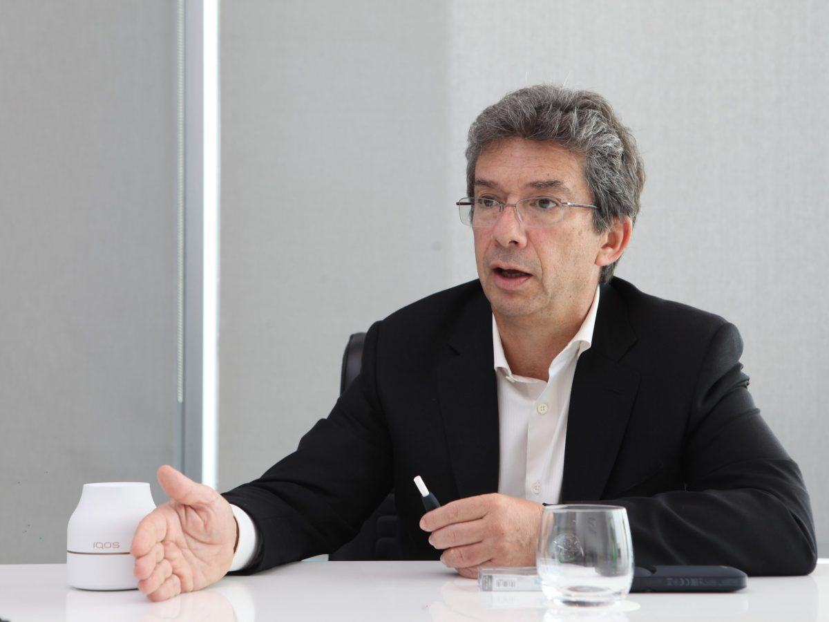 """Philip Morris International CEO Andre Calantzopoulos has been an 'IQOS' user """"since the first prototype"""" landed on his desk"""