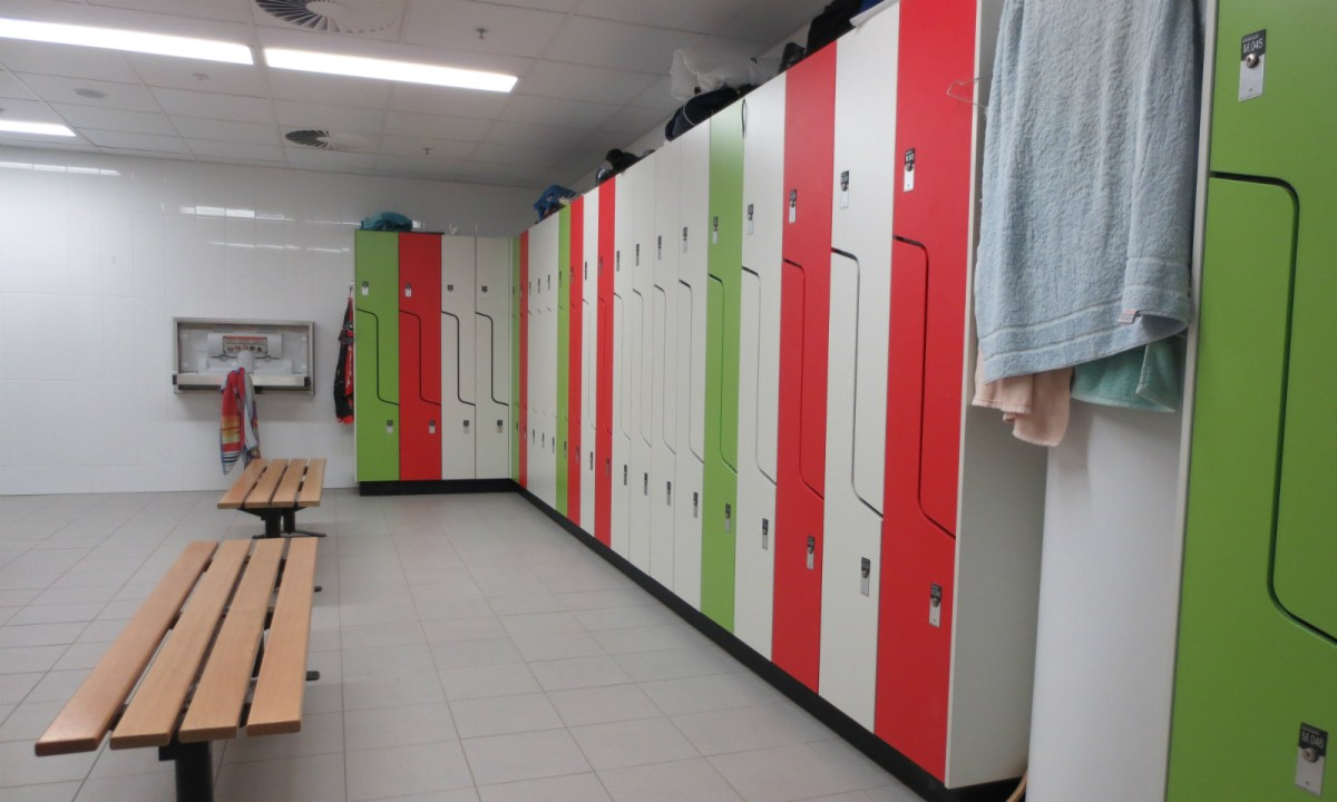 A typical changing room. Photo: Wikimedia Commons